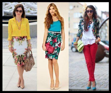 saias estampadas da moda estilos sociais