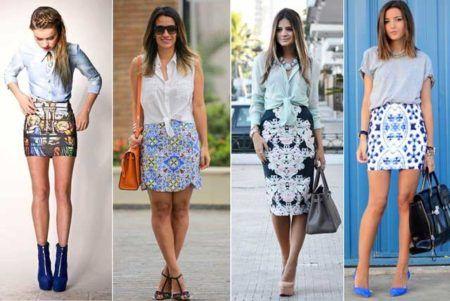 saias estampadas diversos modelos da moda