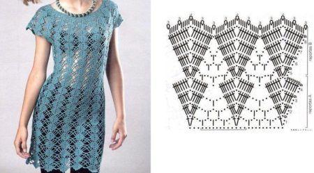 1be56724e512 Lindos Vestidos de crochê com gráficos | Bela & Feliz