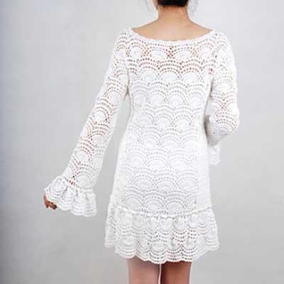 Lindos Vestidos De Crochê Com Gráficos Bela Feliz