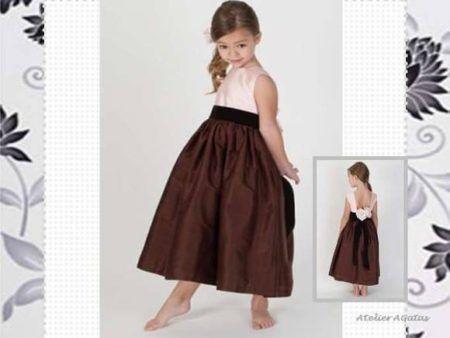 vestidos para dama de honra infantil