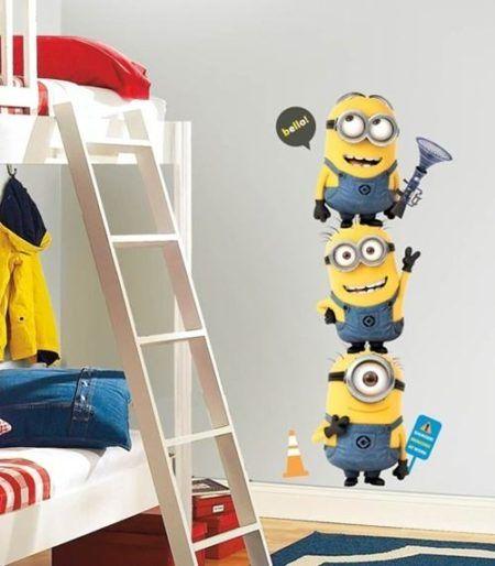 adesivos de parede para quarto infantil de menino dos minions