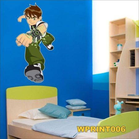 adesivos digital para quarto infantil de menino ben 10
