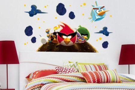 adesivos para quarto infantil de menino angry birds