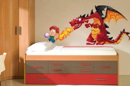 adesivos para quarto infantil de menino de dragão