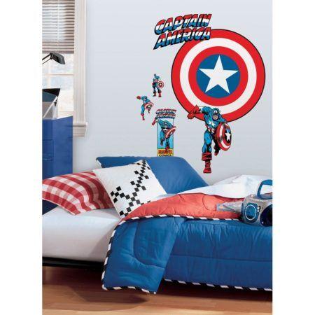 adesivos para quarto infantil de menino do capitão america