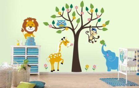adesivos para quarto infantil de meninos mundo animal