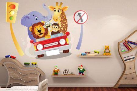 aprenda colocar adesivos para quarto infantil de menino
