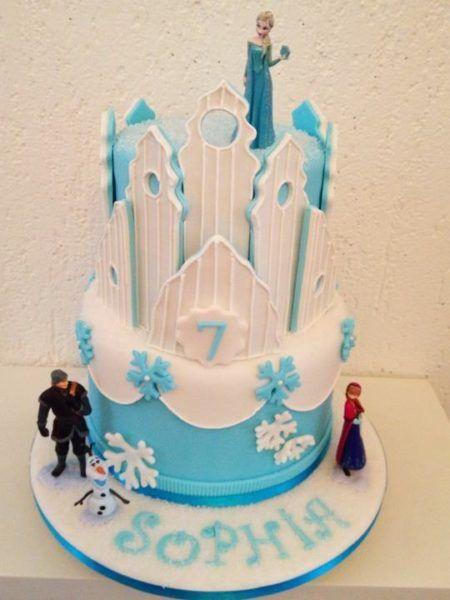 bolo frozen para aniversário criativo