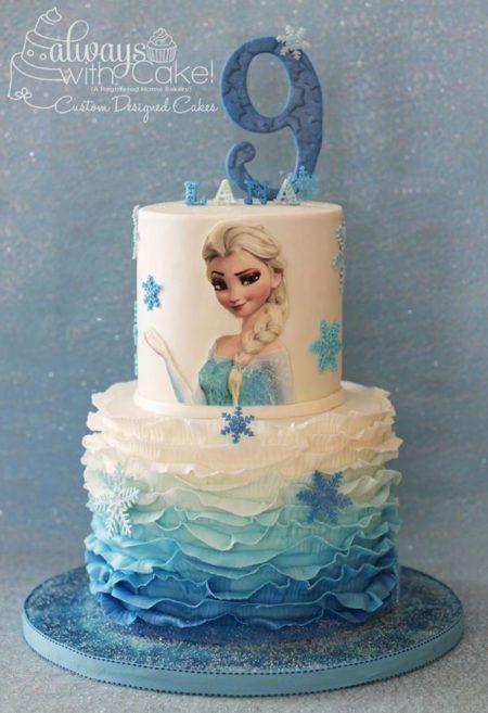 bolo frozen para aniversário de nove anos