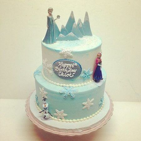 bolo frozen para aniversário simples