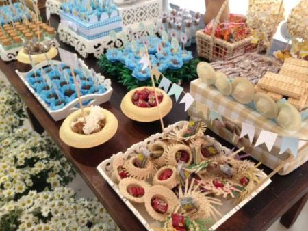 comidas para cha de bebe de festa junina