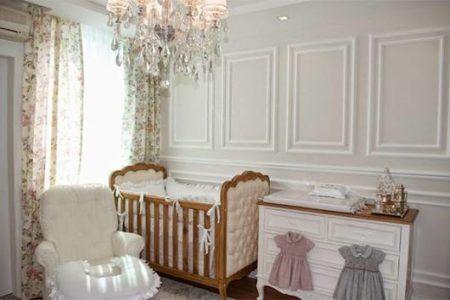 decoração com estilo provençal para quarto de bebe