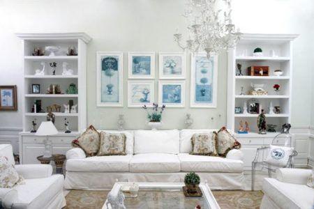 decoração com estilo provençal para sala de estar