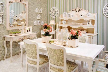 decoração com estilo provençal para sala de jantar