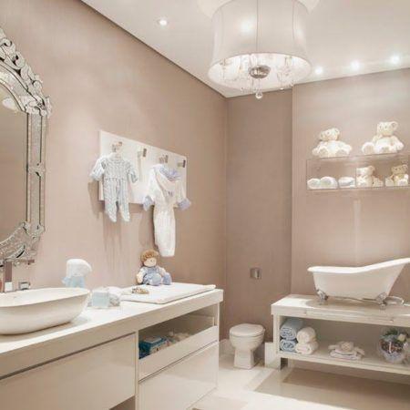 decoração de banheiro de bebe com estilo provençal