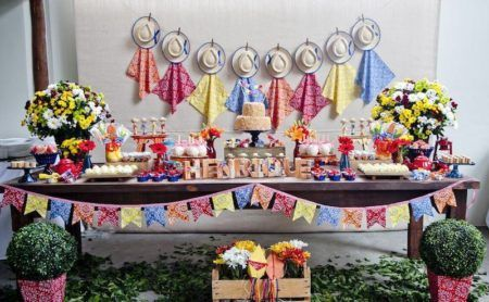 decoração de cha de bebe com festa junina