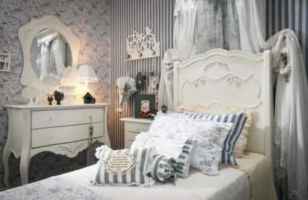 decoração de quarto infantil com estilo provençal