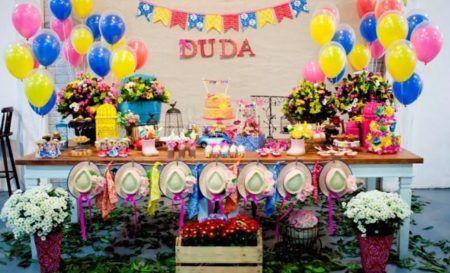 decoração para cha de bebe de festa junina