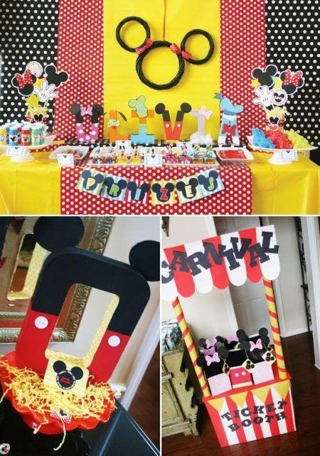 dicas de enfeites do Mickey para aniversário