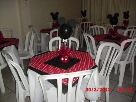 enfeites de mesa do Mickey para aniversário