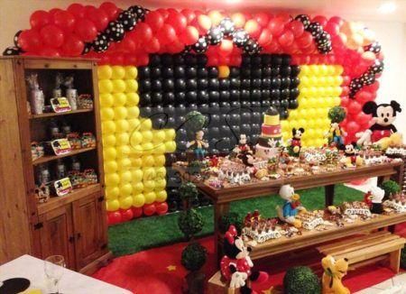 enfeites do Mickey para aniversário decoração