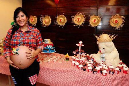 fotos de cha de bebe com festa junina