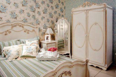 fotos de decoração com estilo provençal de quarto de casal