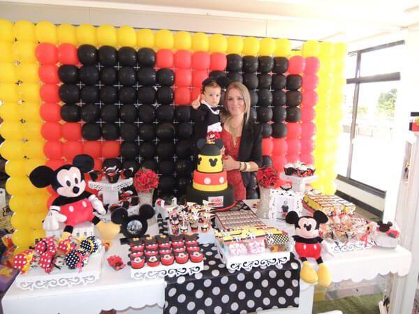 Enfeites do Mickey para aniversário de menino