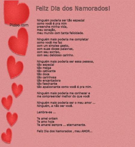 mensagens de amor para o dia dos namorados amor eterno