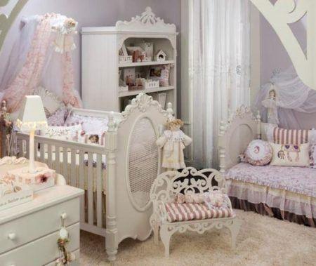 modelos de decoração com estilo provençal para quarto de bebe