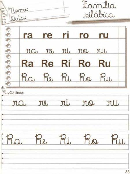 atividades com a consoante R