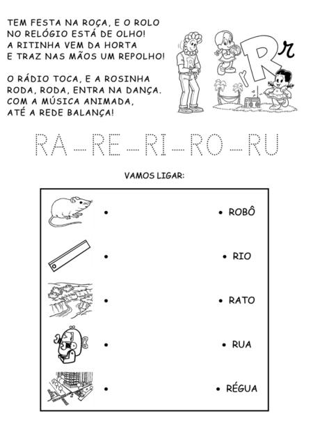 atividades escolares sibalicas com a letra R