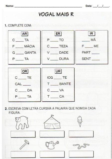 atividades para imprimir com a letra R