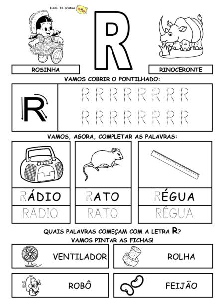 atividades sibalicas com a letra R para cobrir