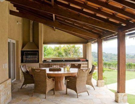 casa de campo com varanda gourmet