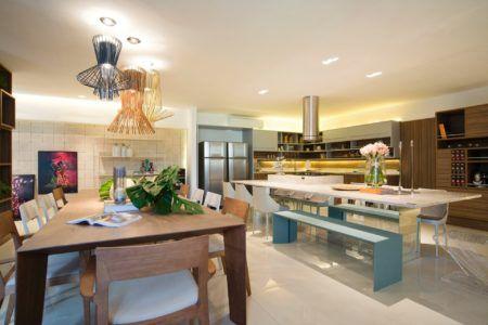 dicas de decoração de sala gourmet com cozinha
