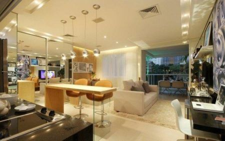 dicas de decoração de salas com varanda gourmet