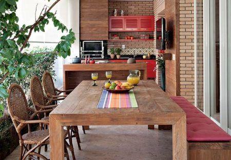 dicas de salas com varanda gourmet rustica