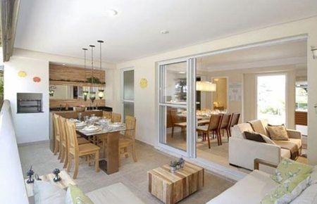 imagens de salas com varanda gourmet