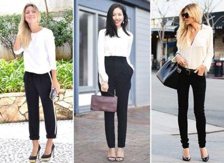 look com calças femininas social preta