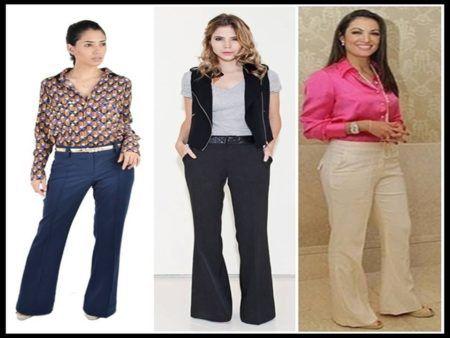 looks com calças social feminina para trabalhar