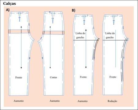 moldes de calças femininas social