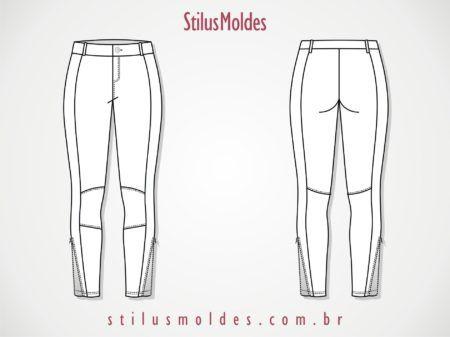 moldes de calças montaria com ziper