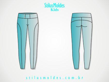 moldes de calças montaria infantil e juvenil