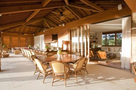 salas com varanda gourmet para casa de campo