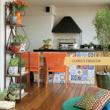 salas com varanda rustica gourmet