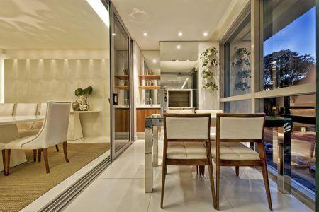 salas com varando gourmet integrada