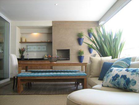 salas decoradas com varanda gourmet