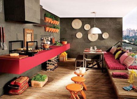 sugestões de salas com varanda gourmet